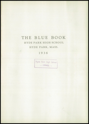 Page 5, 1936 Edition, Hyde Park High School - Blue Book Yearbook (Boston, MA) online yearbook collection