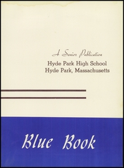 Page 7, 1957 Edition, Hyde Park High School - Blue Book Yearbook (Boston, MA) online yearbook collection