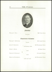 Page 14, 1912 Edition, Central High School - Pnalka Yearbook (Springfield, MA) online yearbook collection