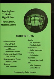 Page 5, 1975 Edition, Framingham North High School - Archon Yearbook (Framingham, MA) online yearbook collection