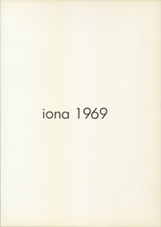 Page 5, 1969 Edition, Iona College - ICANN Yearbook (New Rochelle, NY) online yearbook collection