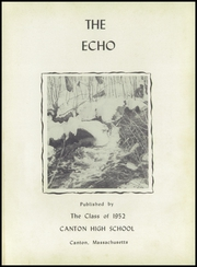 Page 5, 1952 Edition, Canton High School - Echo Yearbook (Canton, MA) online yearbook collection