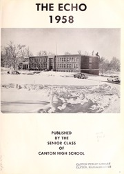 Page 5, 1958 Edition, Canton High School - Echo Yearbook (Canton, MA) online yearbook collection