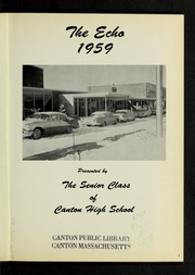 Page 5, 1959 Edition, Canton High School - Echo Yearbook (Canton, MA) online yearbook collection