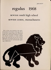 Page 5, 1968 Edition, Newton South High School - Regulus Yearbook (Newton, MA) online yearbook collection