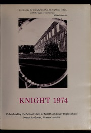 Page 5, 1974 Edition, North Andover High School - Knight Yearbook (North Andover, MA) online yearbook collection