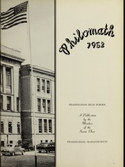 Page 7, 1952 Edition, Framingham High School - Philomath Yearbook (Framingham, MA) online yearbook collection