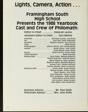 Page 6, 1988 Edition, Framingham High School - Philomath Yearbook (Framingham, MA) online yearbook collection