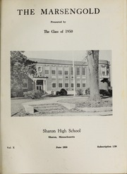 Page 5, 1950 Edition, Sharon High School - Marsengold Yearbook (Sharon, MA) online yearbook collection
