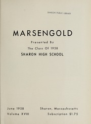 Page 5, 1958 Edition, Sharon High School - Marsengold Yearbook (Sharon, MA) online yearbook collection