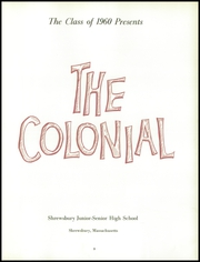 Page 7, 1960 Edition, Shrewsbury High School - Colonial Yearbook (Shrewsbury, MA) online yearbook collection