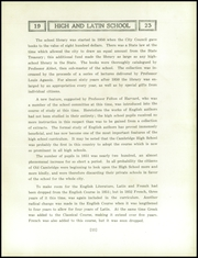 Page 15, 1923 Edition, Cambridge Latin High School - Review Yearbook (Cambridge, MA) online yearbook collection