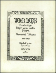 Page 7, 1923 Edition, Cambridge Latin High School - Review Yearbook (Cambridge, MA) online yearbook collection
