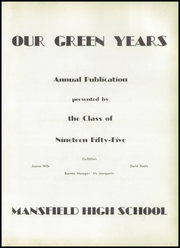 Page 5, 1955 Edition, Mansfield High School - Echo Yearbook (Mansfield, MA) online yearbook collection