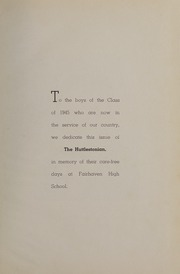 Page 9, 1945 Edition, Fairhaven High School - Huttlestonian Yearbook (Fairhaven, MA) online yearbook collection