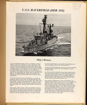Page 5, 1967 Edition, Haverfield (DER 393) - Naval Cruise Book online yearbook collection