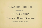 Page 2, 1905 Edition, Drury High School - Class Book Yearbook (North Adams, MA) online yearbook collection