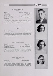 Page 15, 1939 Edition, Drury High School - Class Book Yearbook (North Adams, MA) online yearbook collection