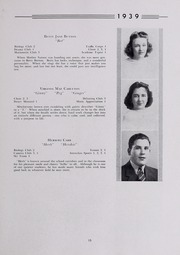 Page 17, 1939 Edition, Drury High School - Class Book Yearbook (North Adams, MA) online yearbook collection