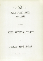 Page 5, 1951 Edition, Foxboro High School - Red Fox Yearbook (Foxboro, MA) online yearbook collection
