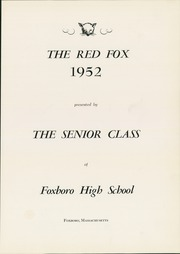 Page 5, 1952 Edition, Foxboro High School - Red Fox Yearbook (Foxboro, MA) online yearbook collection