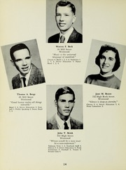 Page 16, 1957 Edition, Westwood High School - Green Years Yearbook (Westwood, MA) online yearbook collection