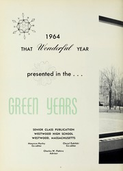 Page 10, 1964 Edition, Westwood High School - Green Years Yearbook (Westwood, MA) online yearbook collection