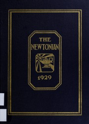 Newton High School - Newtonian Yearbook (Newton, MA) online yearbook collection, 1929 Edition, Page 1