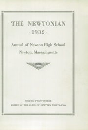Page 7, 1932 Edition, Newton High School - Newtonian Yearbook (Newton, MA) online yearbook collection