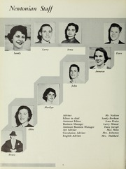 Page 10, 1954 Edition, Newton High School - Newtonian Yearbook (Newton, MA) online yearbook collection