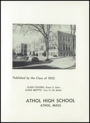 Page 5, 1955 Edition, Athol High School - Raider Yearbook (Athol, MA) online yearbook collection