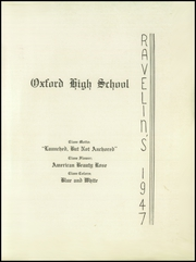 Page 3, 1947 Edition, Oxford High School - Ravelins Yearbook (Oxford, MA) online yearbook collection