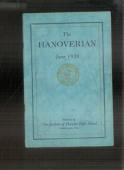 Page 1, 1926 Edition, Hanover High School - Hanoverian Yearbook (Hanover, MA) online yearbook collection