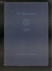 1931 Edition, Hanover High School - Hanoverian Yearbook (Hanover, MA)