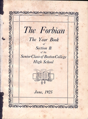 Page 5, 1925 Edition, Boston College High School - Forbian Yearbook (Boston, MA) online yearbook collection