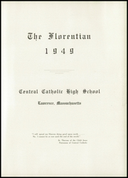 Page 9, 1949 Edition, Central Catholic High School - Florentian Yearbook (Lawrence, MA) online yearbook collection