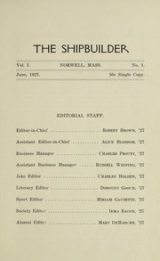 Page 7, 1927 Edition, Norwell High School - Shipbuilder Yearbook (Norwell, MA) online yearbook collection