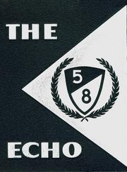 1958 Edition, Lunenburg High School - Echo Yearbook (Lunenburg, MA)