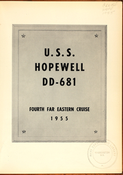 Page 3, 1955 Edition, Hopewell (DD 681) - Naval Cruise Book online yearbook collection