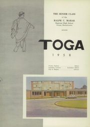 Page 5, 1958 Edition, Ralph C Mahar Regional High School - Toga Yearbook (Orange, MA) online yearbook collection