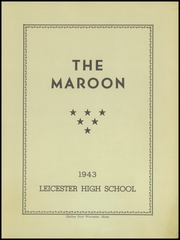 Page 5, 1943 Edition, Leicester High School - Maroon Yearbook (Leicester, MA) online yearbook collection