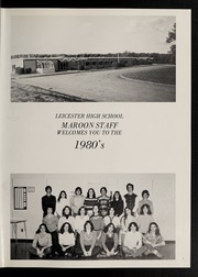 Page 5, 1980 Edition, Leicester High School - Maroon Yearbook (Leicester, MA) online yearbook collection