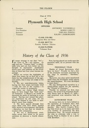 Page 6, 1936 Edition, Plymouth High School - Pilgrim Yearbook (Plymouth, MA) online yearbook collection