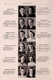 Page 16, 1940 Edition, Plymouth High School - Pilgrim Yearbook (Plymouth, MA) online yearbook collection