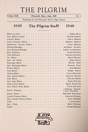 Page 3, 1940 Edition, Plymouth High School - Pilgrim Yearbook (Plymouth, MA) online yearbook collection
