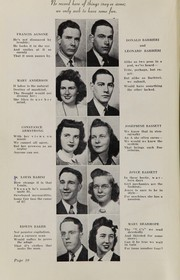 Page 12, 1943 Edition, Plymouth High School - Pilgrim Yearbook (Plymouth, MA) online yearbook collection