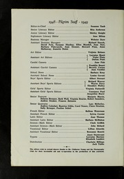 Page 6, 1949 Edition, Plymouth High School - Pilgrim Yearbook (Plymouth, MA) online yearbook collection