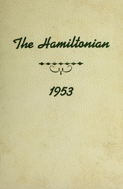 1953 Edition, Hamilton High School - Hamiltonian Yearbook (South Hamilton, MA)