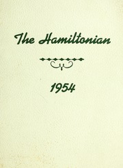 1954 Edition, Hamilton High School - Hamiltonian Yearbook (South Hamilton, MA)