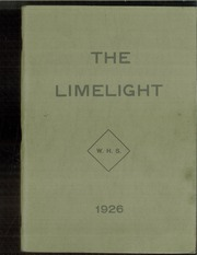 Page 1, 1926 Edition, Ware High School - Limelight Yearbook (Ware, MA) online yearbook collection
